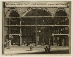 Interieur van de kerk van de Remonstrants Gereformeerden, ook wel Arminianen gen…