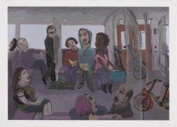 In de metro naar Amsterdam Centraal Station