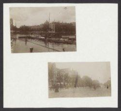 Twee foto's op opzetkarton