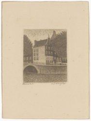 Keizersgracht 765-767 gezien vanaf de Amstel, met rechts Amstel 230 en 228 (ged.…
