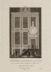 Afbeelding der illuminatie voor het huis van de Heer Jan Jacob de Bruyn. op den …