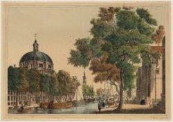 Singel en Roomolenstraat gezien in noordelijke richting naar de Haarlemmersluis,…