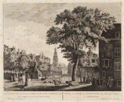 Gezicht van de Reguliers of Munts-Tooren van de Cingel te zien, tot Amsterdam