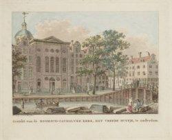 Gezicht van de Roomsch-Catholyke Kerk, Het Vreede Duyfje, te Amsterdam