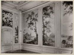 Interieur, Keizersgracht 704. Behangselschilderingen van Jurriaan Andriessen