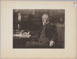 Fotografische reproductie naar een geschilderd portret van de bankier en kunstve…