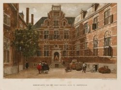 Binnenplaats van het Oost-Indisch Huis te Amsterdam