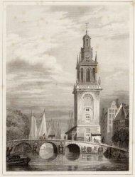 Het Singel, gezien in noordelijke richting naar de Torensluis en de Jan Rodenpoo…