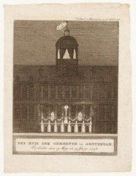 Het huis der gemeente te Amsterdam, Verlicht den 19 May, en 19 Juny, 1798