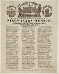 Courant-ombrengers Nieuwjaars-wensch, opgedragen aan alle Ingezetenen der Stad A…