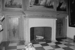 Kalverstraat 92, detail van de regentenkamer van het Burgerweeshuis