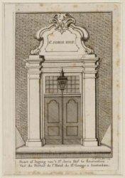 Poort of ingang van 't Sint Joris Hof te Amsterdam