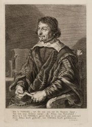 Portret van dichter Joost van den Vondel (1587-1679)