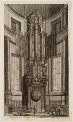 Het Orgel en de Predikstoel in de Lutherse Nieuwe Kerke