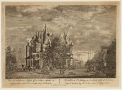 De St. Anthonies Waegh op de Nieuw-Markt, en Schryershoeks Toren in 't verschiet…
