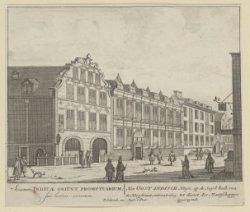 Het Oost Indisch Huys; op de Suyd hoek van de Hoogstraat, ontrent 1605, tot dien…