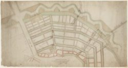 Kaart van de vierde uitleg tussen de (latere) Leidsegracht en de Amstel