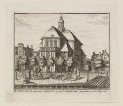 De Ooster Kerk, begonnen Ao. 1669. De eerste Predikatie daar in gedaan op Kersda…