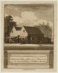 De in 1787 gebouwde en in 1817 afgebroken militaire hoofdwacht op de Botermarkt …