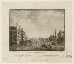 Vue d'Amsterdam No.38. Het Diaconie Weeshuis. de Blaauw-brug en het einde van de…