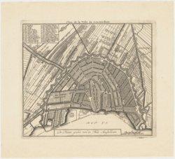 De Platte grond van de Stad Amsteldam. Plan de la Ville de Amsterdam