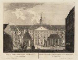 Gezicht van het Oostindisch Zeemagazijn tot Amsterdam