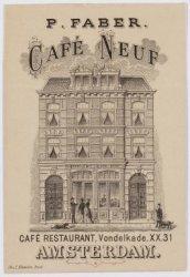 Overtoom 31, de voorgevel van café Neuf