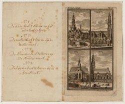 Vier verschillende kerken in Amsterdam