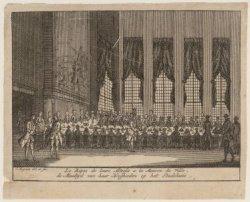 Le Répas de leurs Altesses à la Maison de Ville / de Maaltijd van haar Hoogheden…