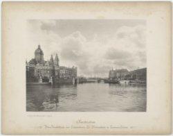 Amsterdam. Prins=Hendrikkade met Schreierstoren, St. Nicolaaskerk en Centraal=St…