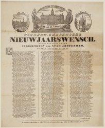 Courant-ombrengers Nieuwjaarswensch, opgedragen aan alle Ingezetenen der Stad Am…