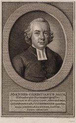 Portret van Johan Christian Baum (1739-1806), Luthers Predikant te Amsterdam