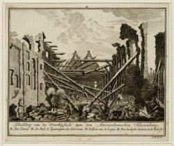 Afbeelding van de overblijfsels van den Amsterdamschen Schouwburg