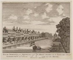 De Heere-Gracht; van de Uitersche-Straat, siende naar den Amstel
