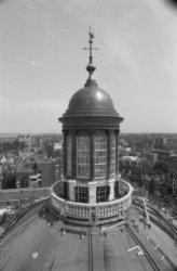 Singel 11, Ronde Lutherse Kerk, detail koepel en lantaarn tijdens restauratie