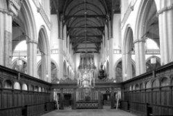 Dam 12, interieur Nieuwe Kerk, het Koor
