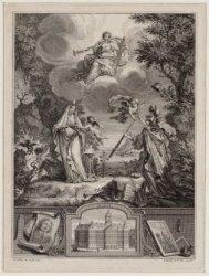 Zinneprent, een allegorische voorstelling op honderd jaar Vrede van Münster (164…