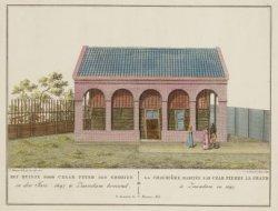 Het Huisje door Czaar Peter den Grooten in den Jare 1697 te Zaandam bewoond