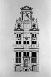 Keizersgracht 319, bouwtekening vooraanzicht, architect Philips Vingboons