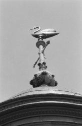 Singel 11, Ronde Lutherse Kerk, detail windvaan