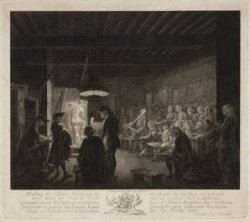 Afbeelding der Teeken Academie zoo als Dezelve tot den Jaare 1767 Gehouden werd …