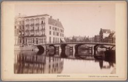 Rokin, gezien naar Hotel Rondeel op de hoek van Doelenstraat en Binnen Amstel. D…