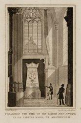 Praalgraf ter eere van den ridder Van Speijk in de Nieuwe Kerk, te Amsterdam