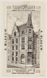 Sigaren Magazijn Pieter Cornz. Hooft, A. Blaauw, Leidschestraat hoek Keizersgrac…