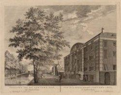 Gezicht van het Corvers-Hof, tot Amsterdam