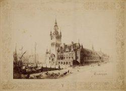 Ontwerp voor de Beursprijsvraag van 1884; beursontwerp Y door Le Cordonnier. Fot…