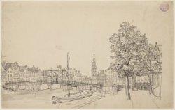 's-Gravelandse Veer naar Halvemaansbrug en Muntplein gezien
