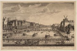 A View of Amsterdam from y Bridge over y River Amstel. Showing, the Buildings on…