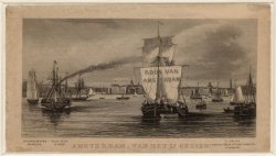 Amsterdam van het IJ gezien