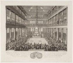 De eerste Algemeenen Vergadering (in de Luthersche Oude Kerk) van de Maatschappi…